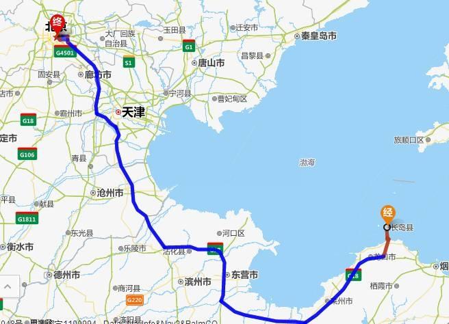 想看一下青岛长岛的地图